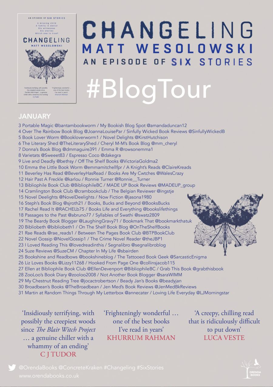 Changeling Blog Tour Poster